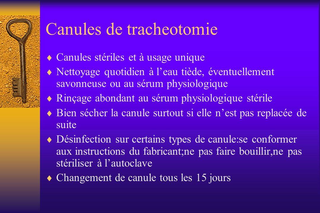 Canules de tracheotomie