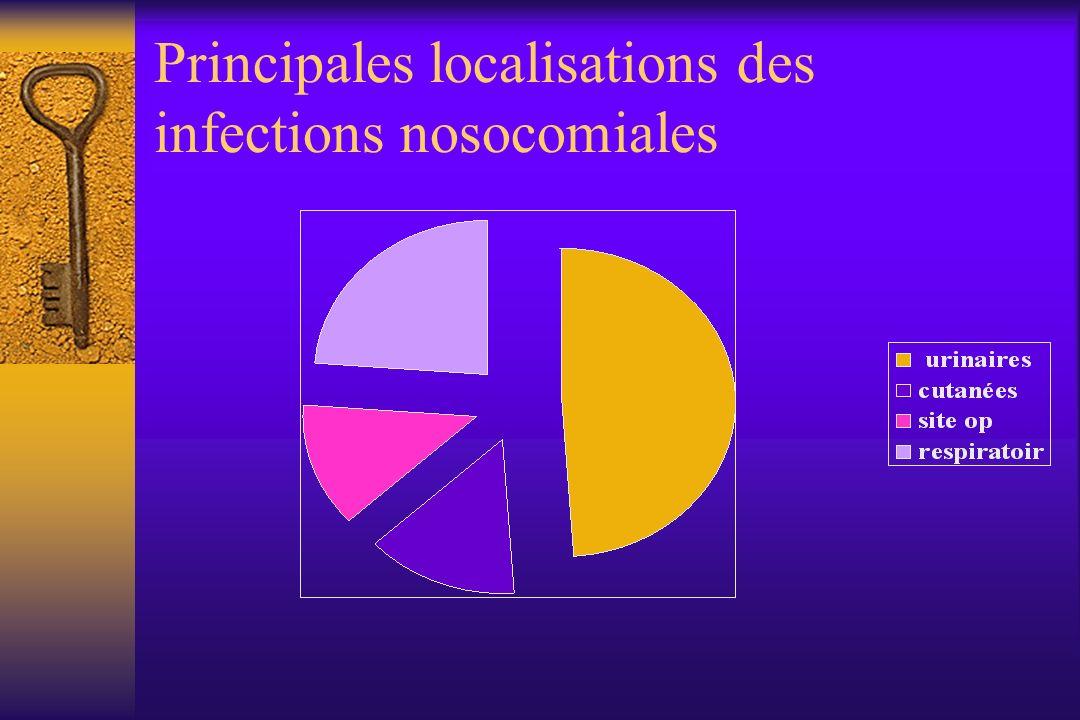 Principales localisations des infections nosocomiales