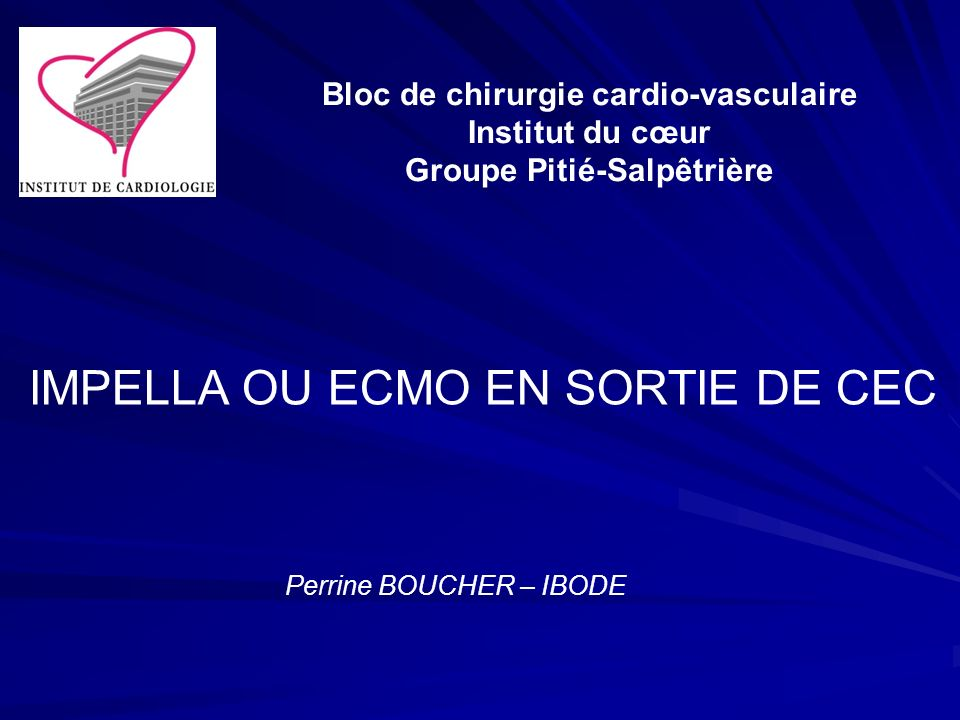 Bloc de chirurgie cardio-vasculaire Groupe Pitié-Salpêtrière