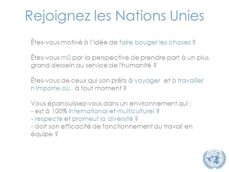 Rejoignez les Nations Unies