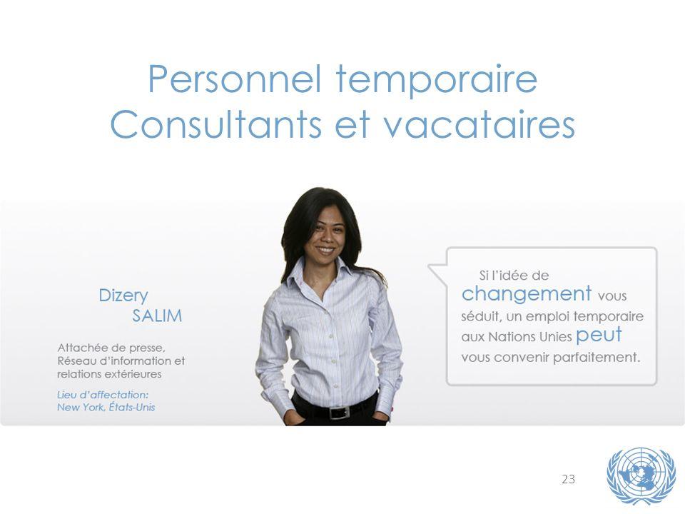Consultants et vacataires