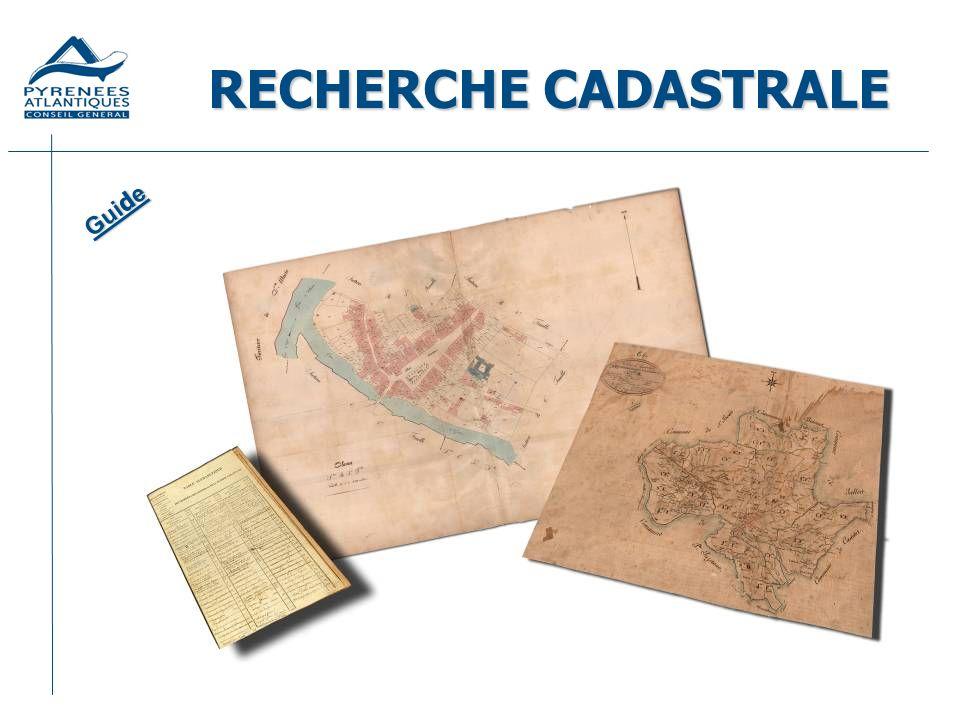 RECHERCHE CADASTRALE Guide