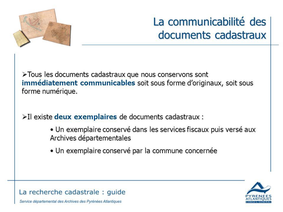 La communicabilité des documents cadastraux