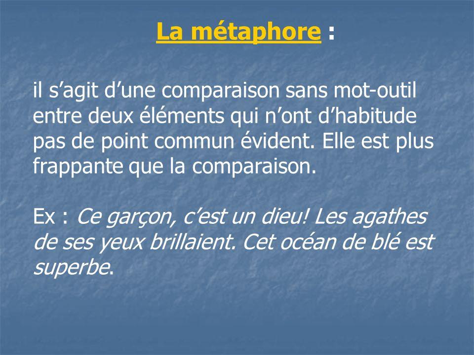 La métaphore :