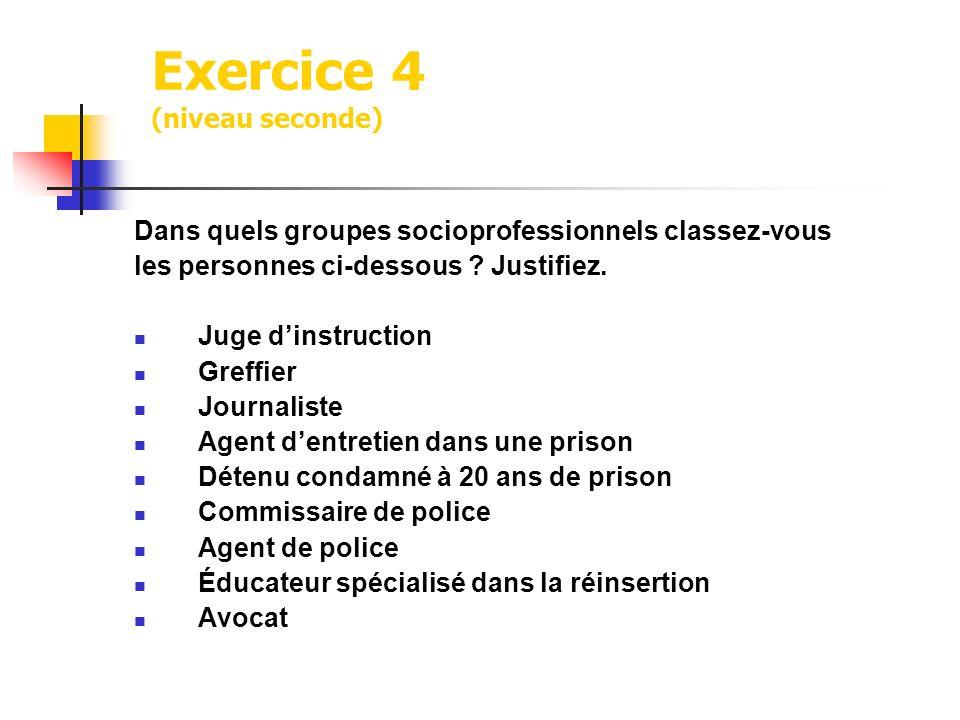 Exercice 4 (niveau seconde)