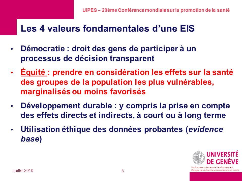 Les 4 valeurs fondamentales d'une EIS