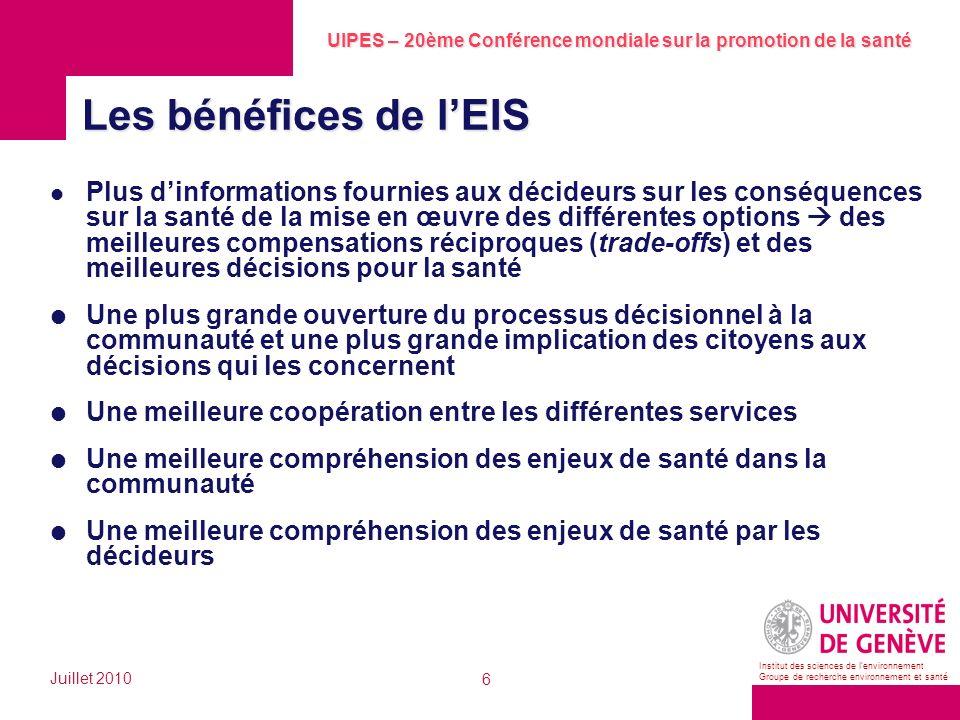 Les bénéfices de l'EIS