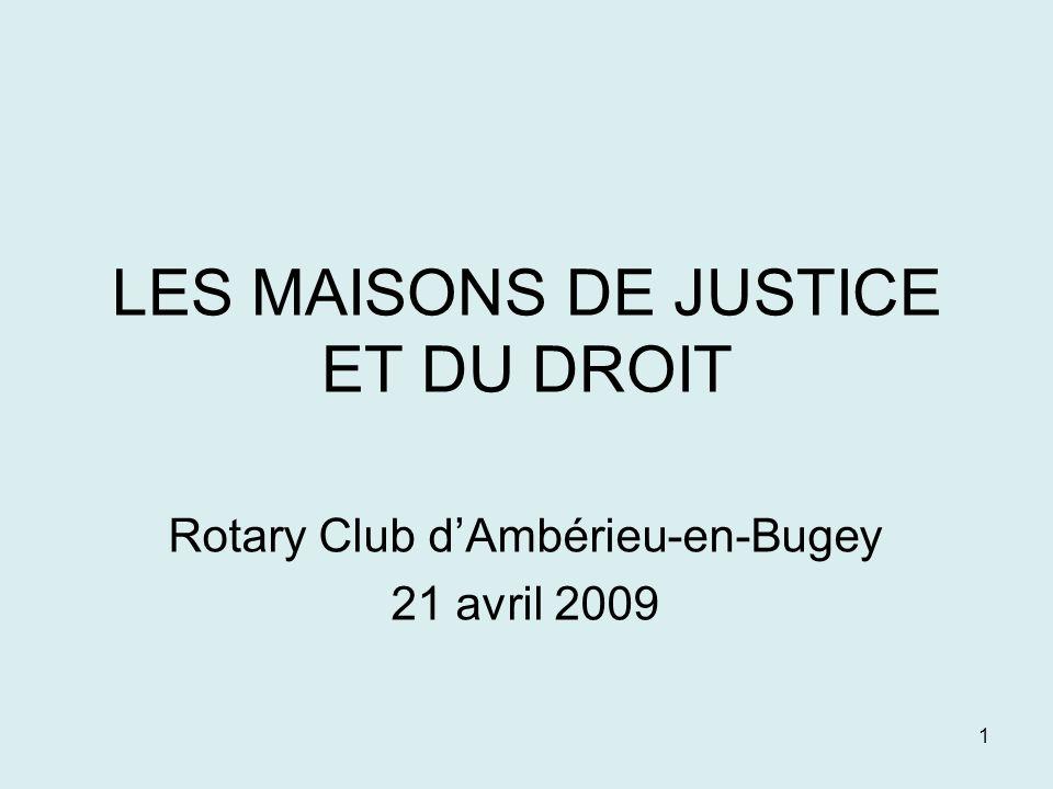 LES MAISONS DE JUSTICE ET DU DROIT