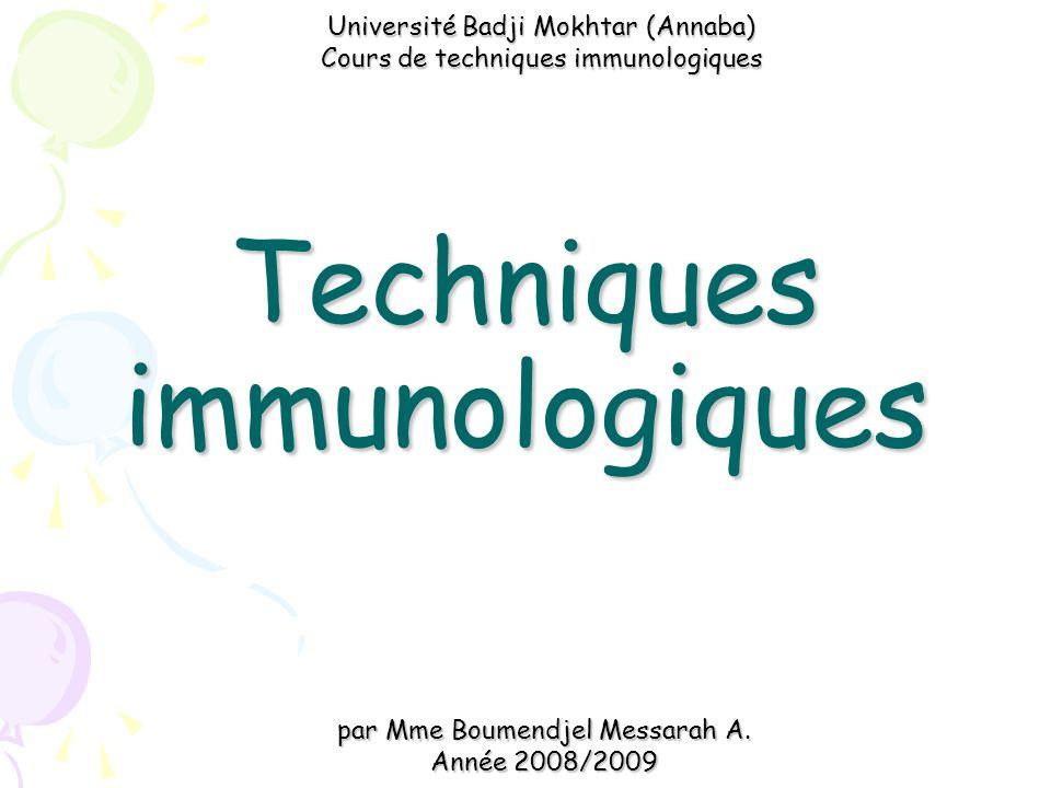 Techniques immunologiques