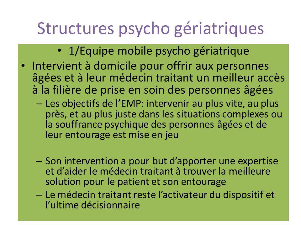 Structures psycho gériatriques