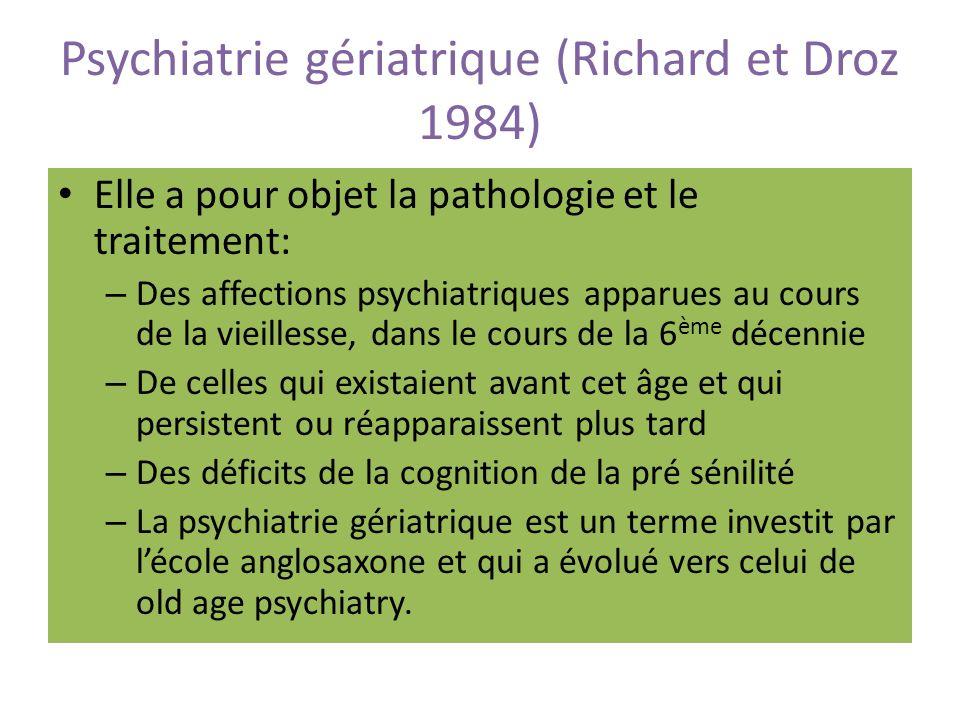 Psychiatrie gériatrique (Richard et Droz 1984)