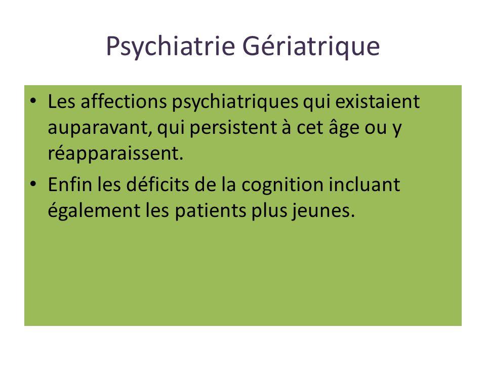 Psychiatrie Gériatrique