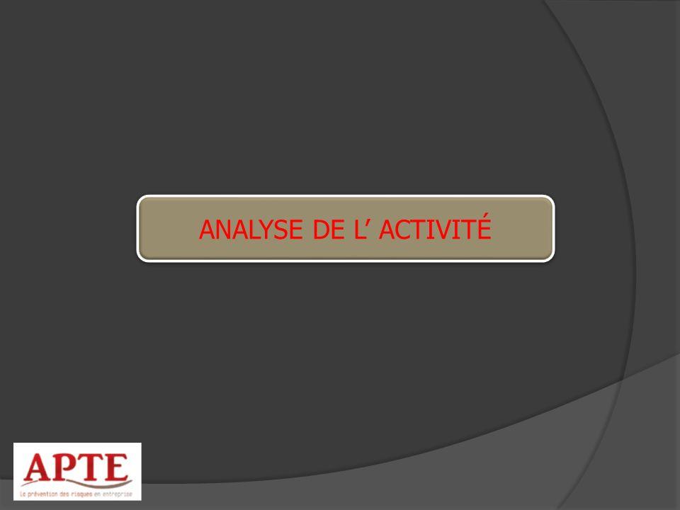 ANALYSE DE L' ACTIVITÉ