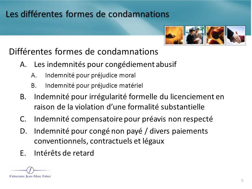 Les différentes formes de condamnations