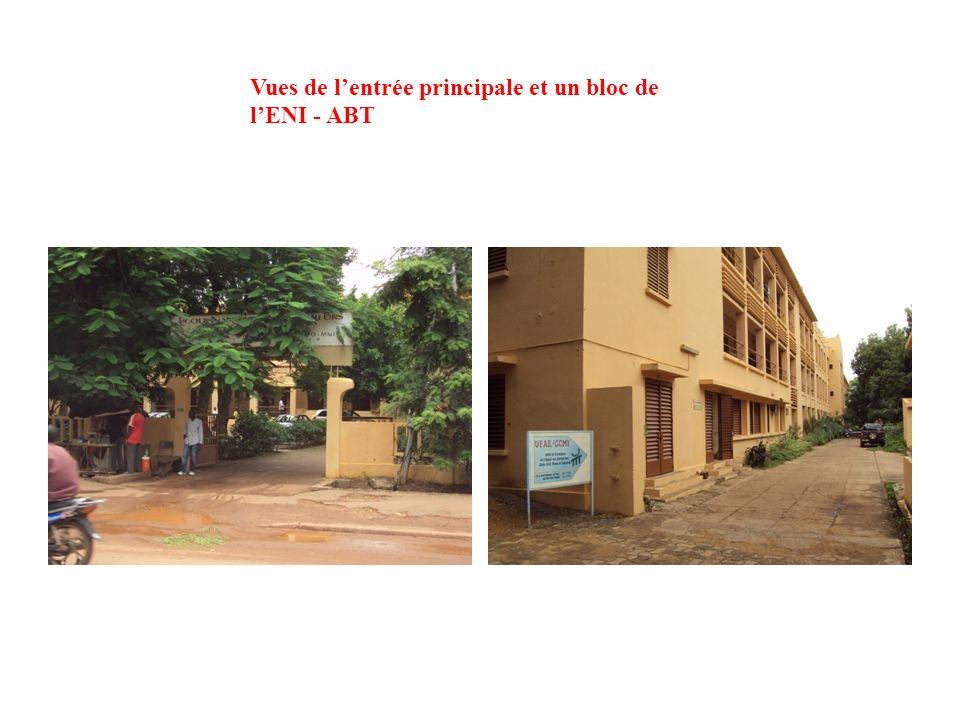 Vues de l'entrée principale et un bloc de l'ENI - ABT