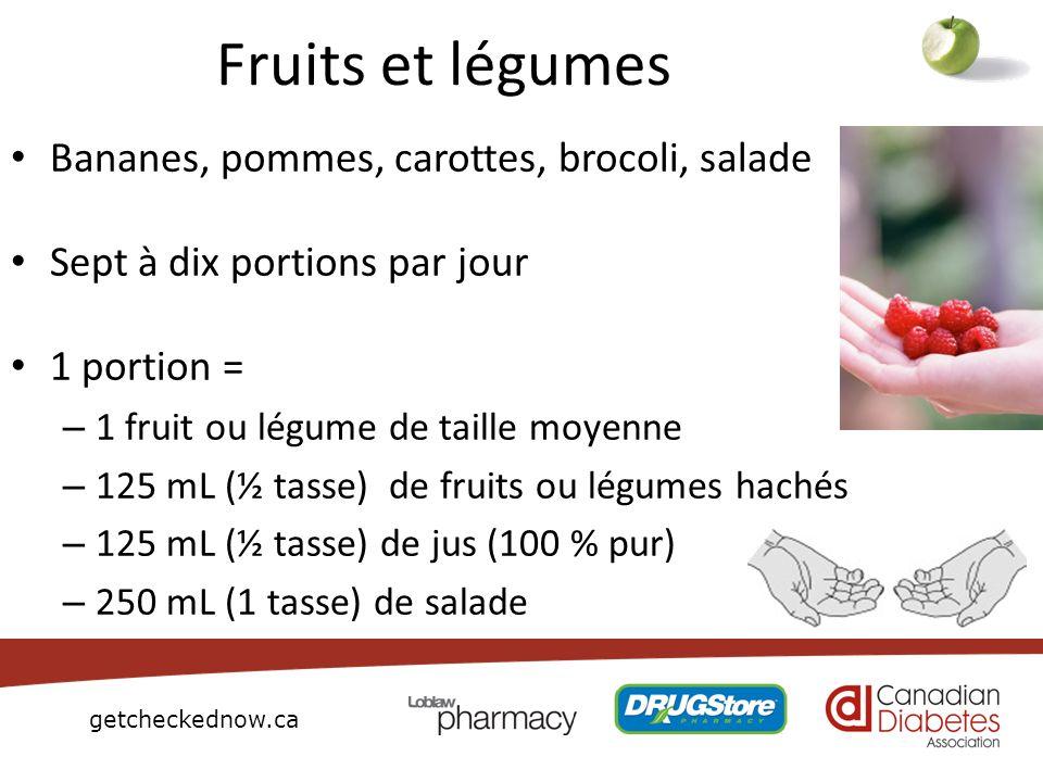 Fruits et légumes Bananes, pommes, carottes, brocoli, salade