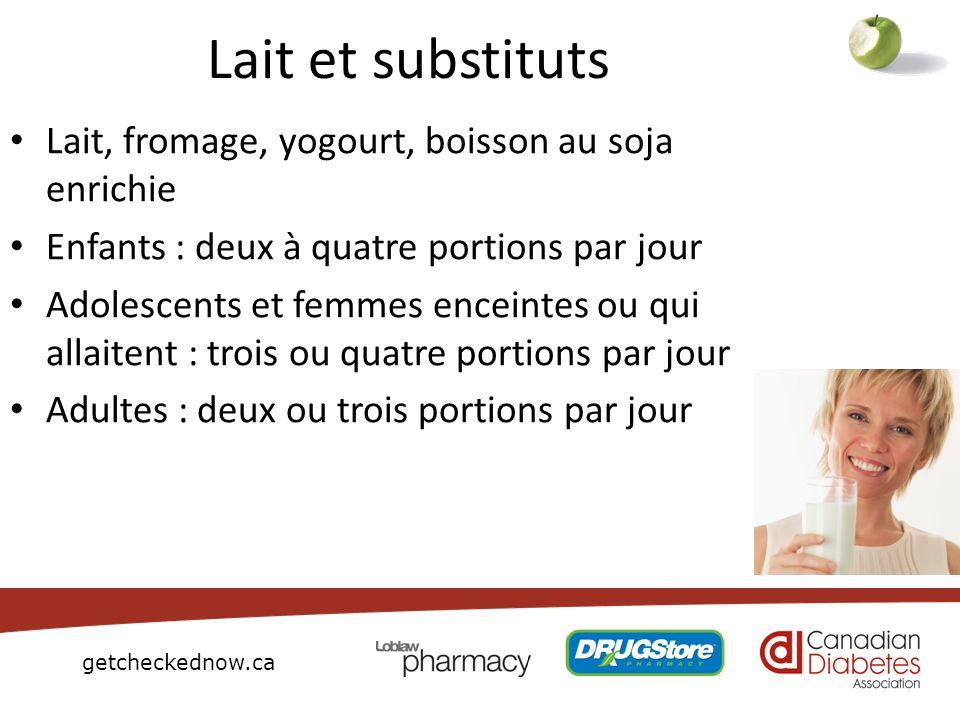 Lait et substituts Lait, fromage, yogourt, boisson au soja enrichie