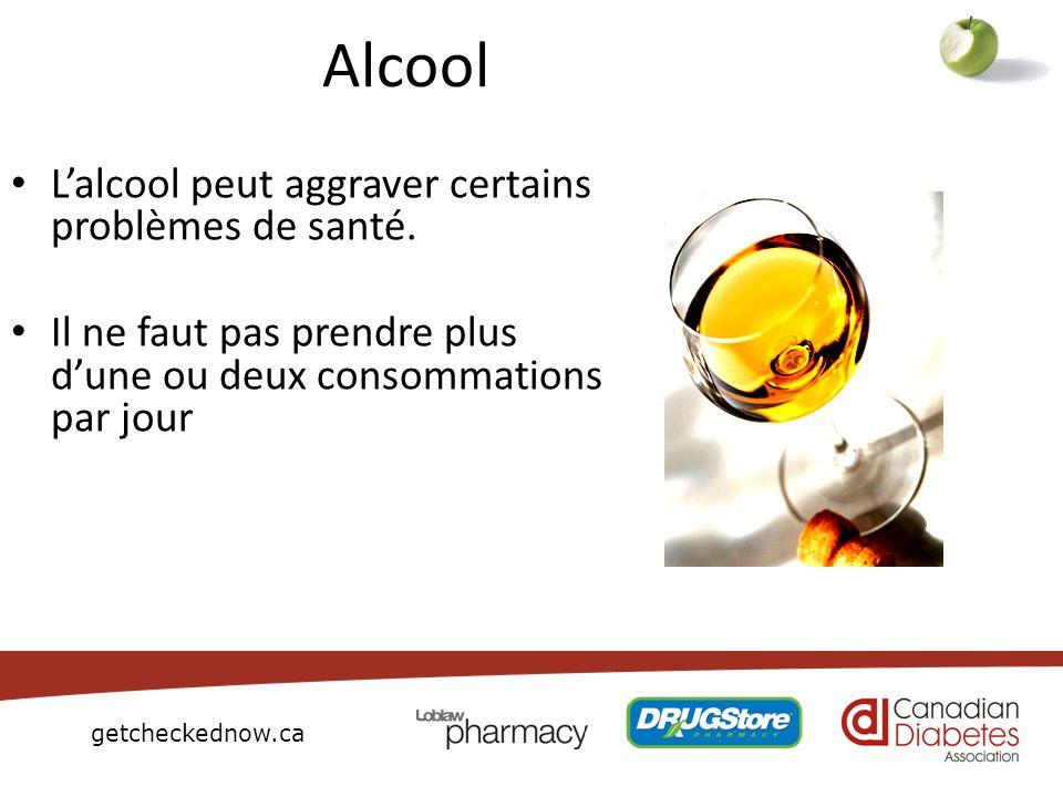 Alcool L'alcool peut aggraver certains problèmes de santé.