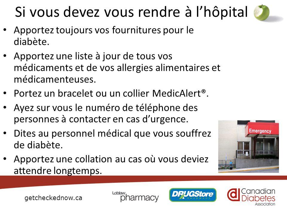 Si vous devez vous rendre à l'hôpital