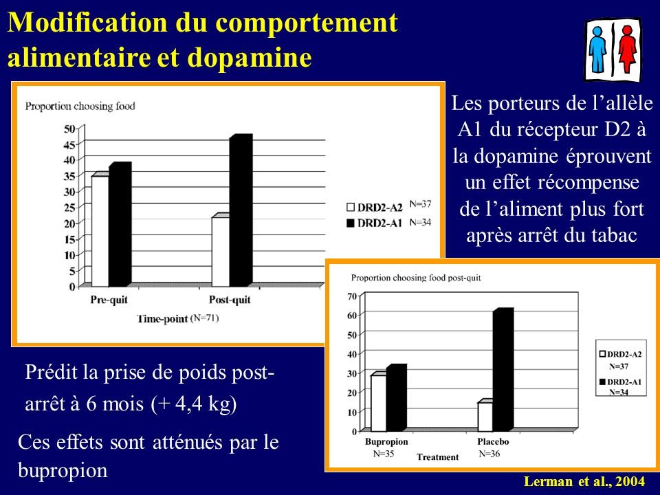 Modification du comportement alimentaire et dopamine