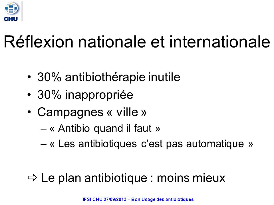 Réflexion nationale et internationale