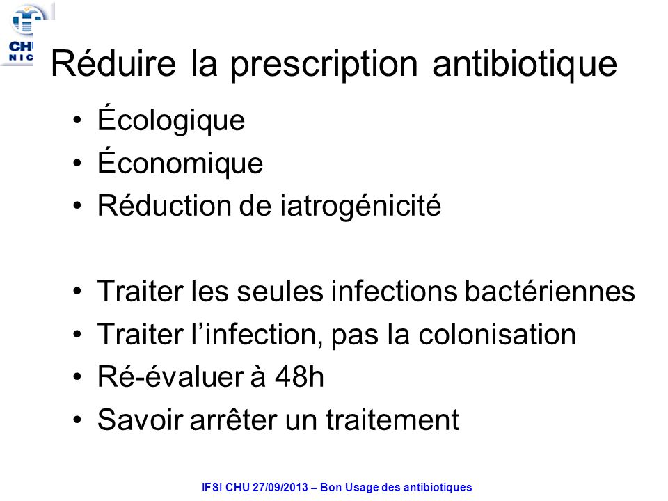Réduire la prescription antibiotique