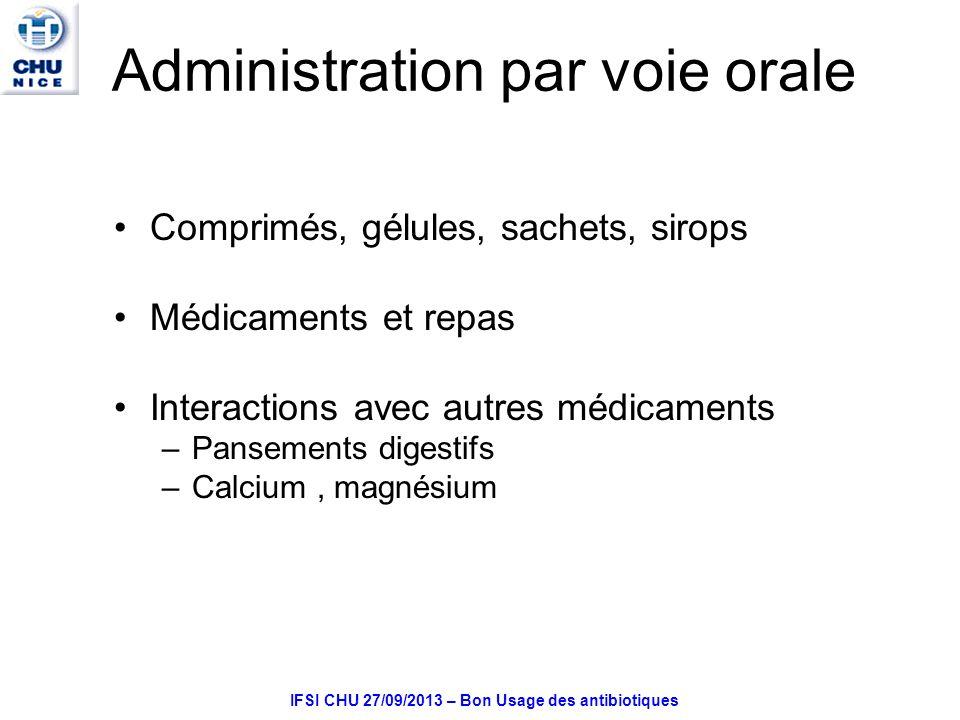 Administration par voie orale