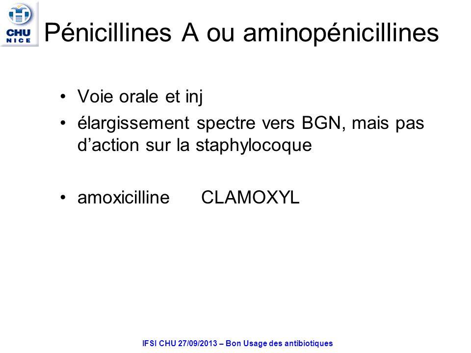 Pénicillines A ou aminopénicillines
