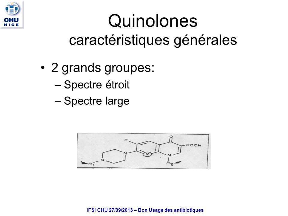 Quinolones caractéristiques générales