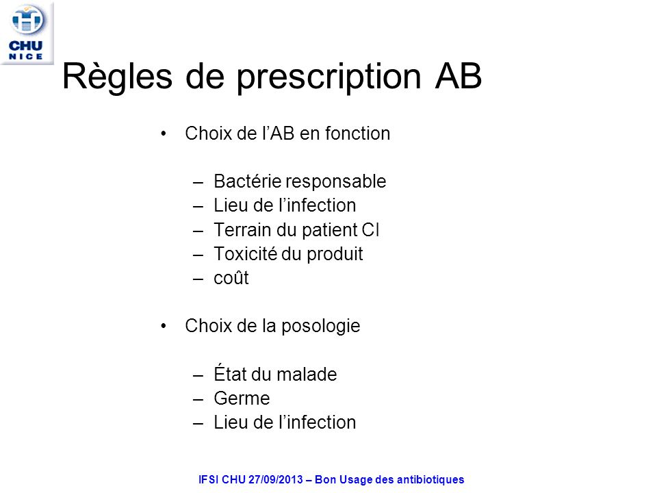 Règles de prescription AB
