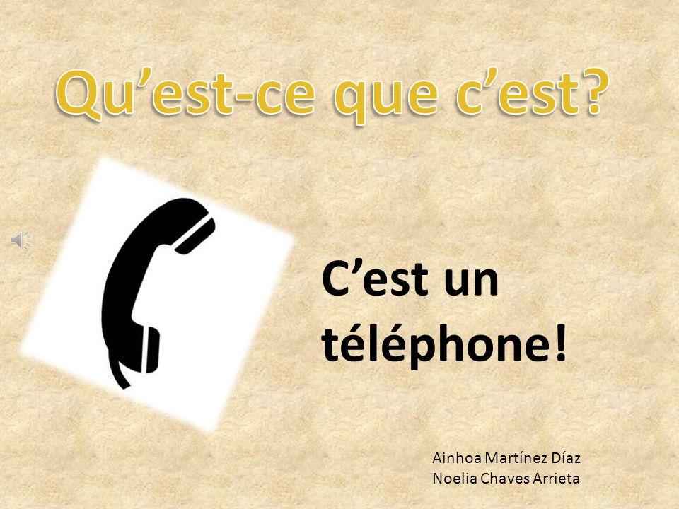 Qu'est-ce que c'est C'est un téléphone! Ainhoa Martínez Díaz