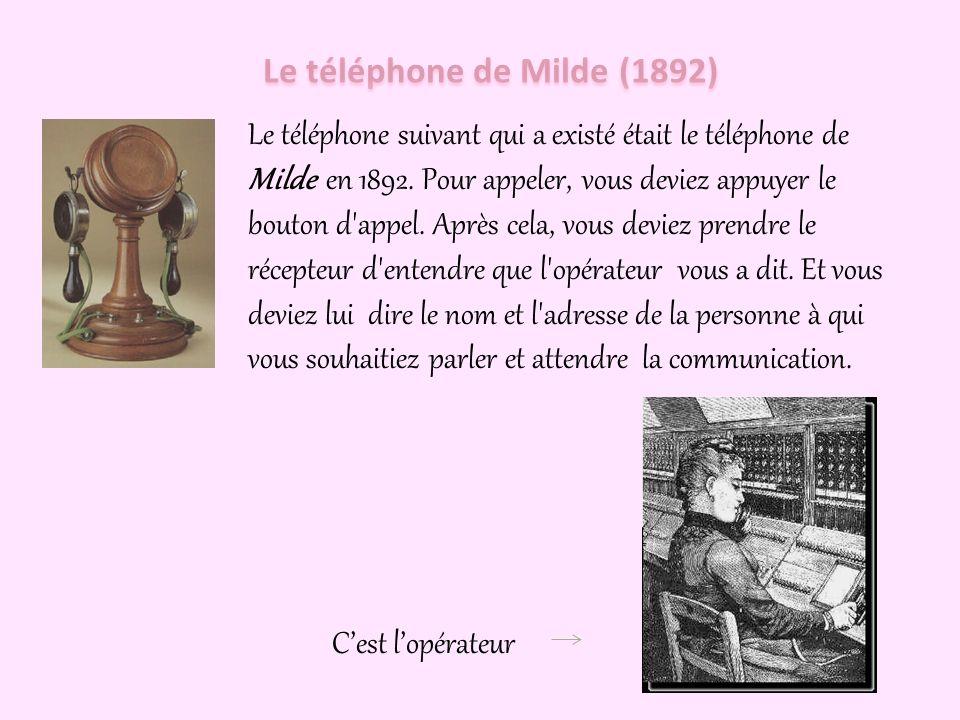 Le téléphone de Milde (1892)