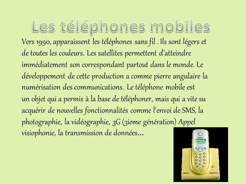 Les téléphones mobiles