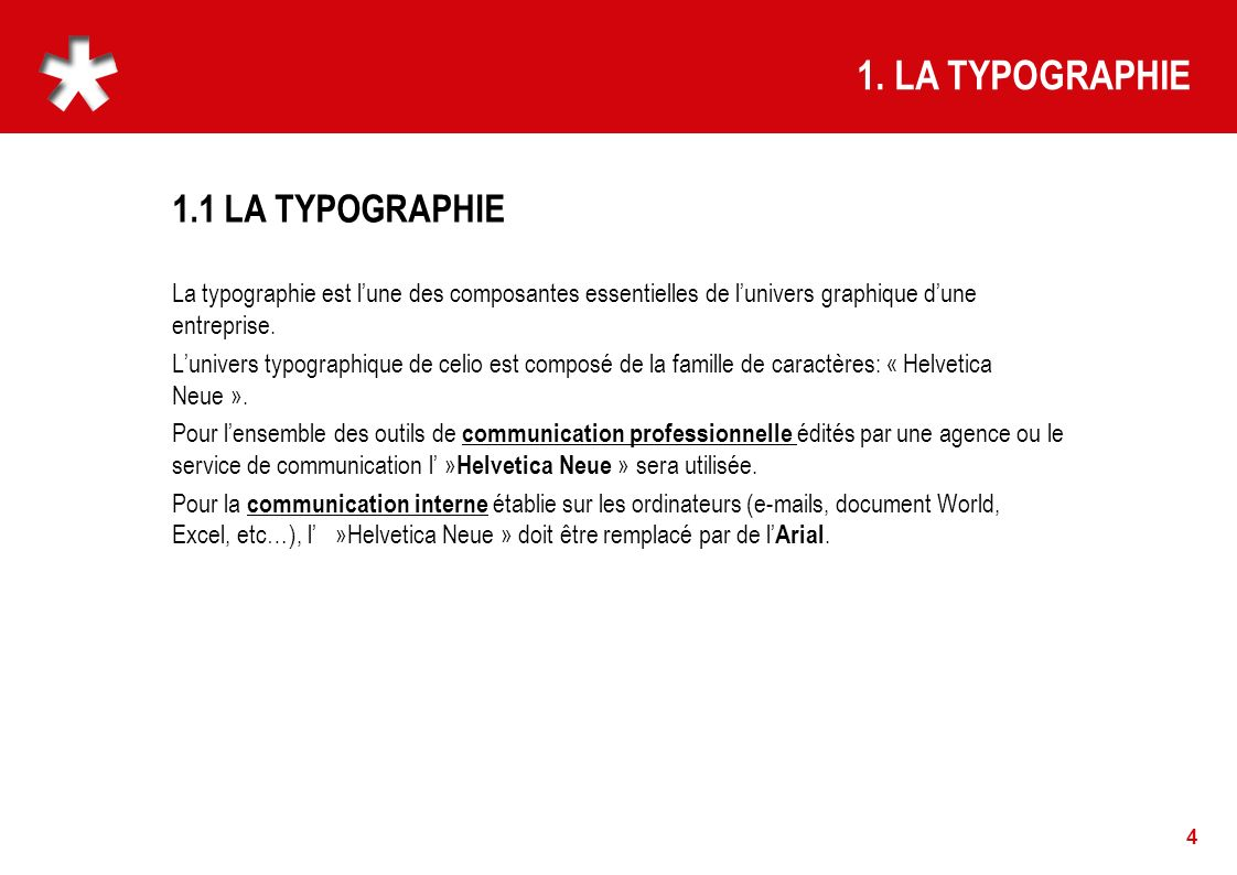 1. LA TYPOGRAPHIE 1.1 LA TYPOGRAPHIE