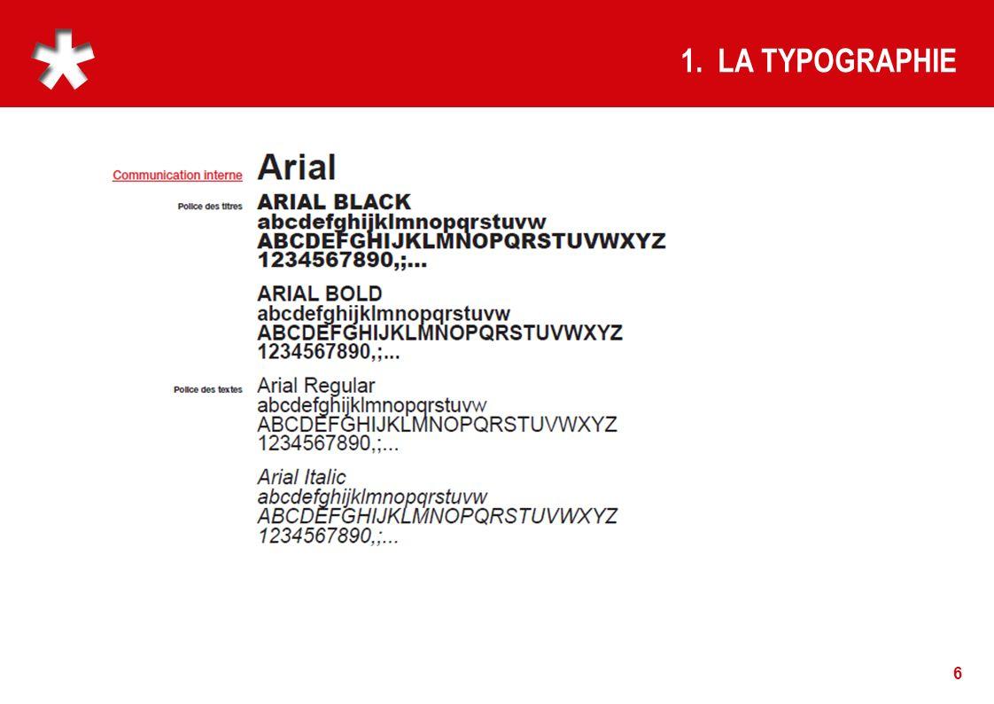 1. LA TYPOGRAPHIE