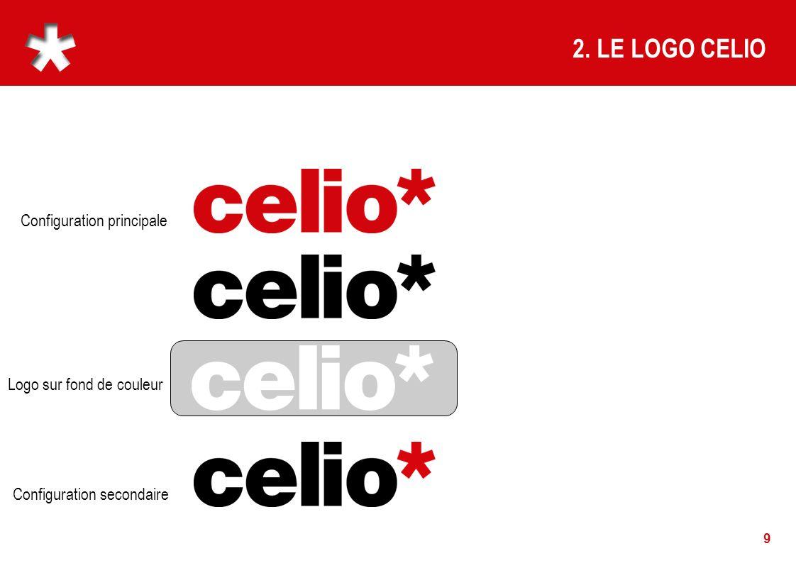 2. LE LOGO CELIO Configuration principale Logo sur fond de couleur