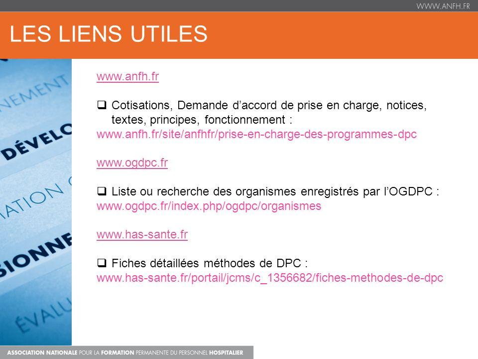 LES LIENS UTILES www.anfh.fr