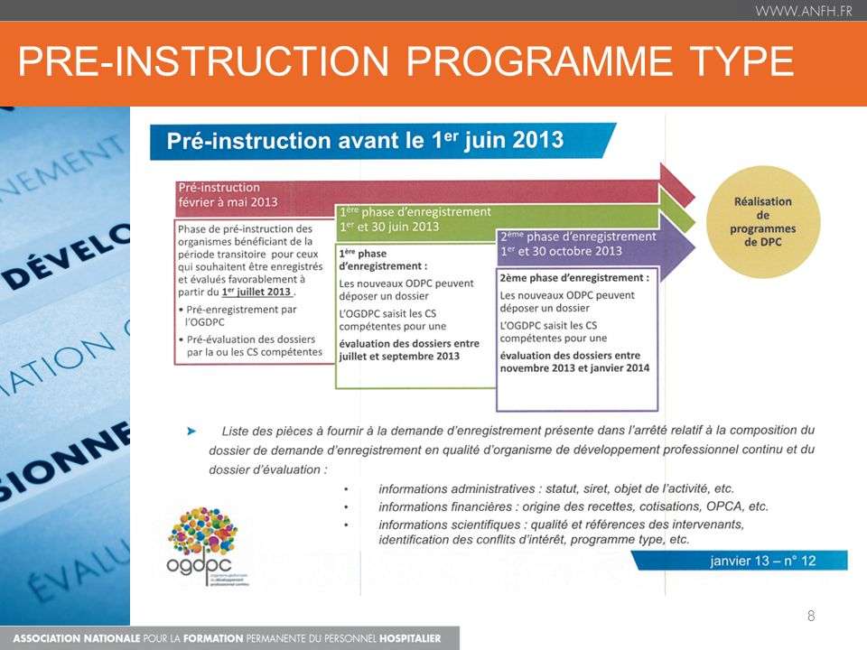 PRE-INSTRUCTION PROGRAMME TYPE