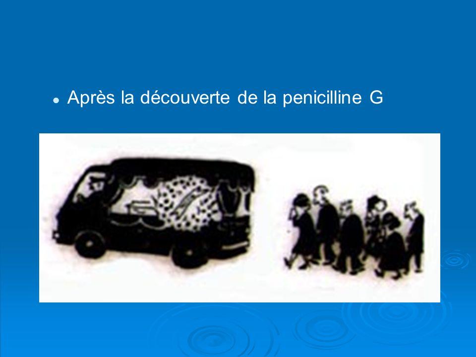 Après la découverte de la penicilline G