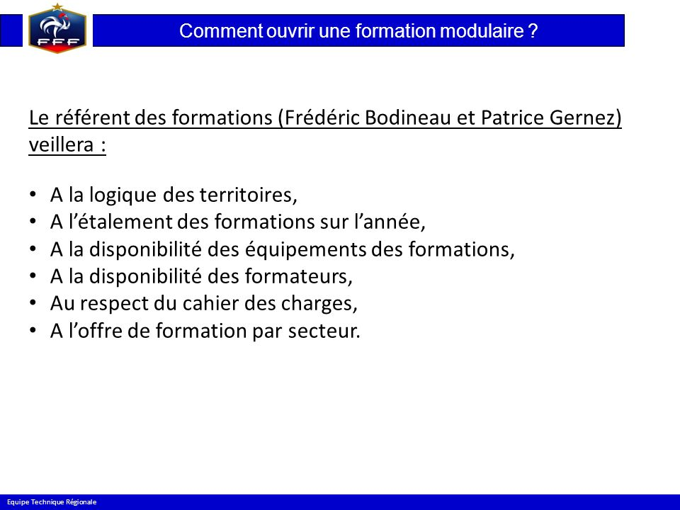 Comment ouvrir une formation modulaire