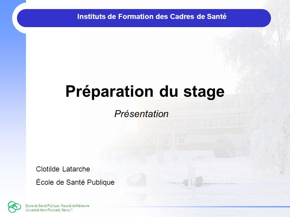 Instituts de Formation des Cadres de Santé
