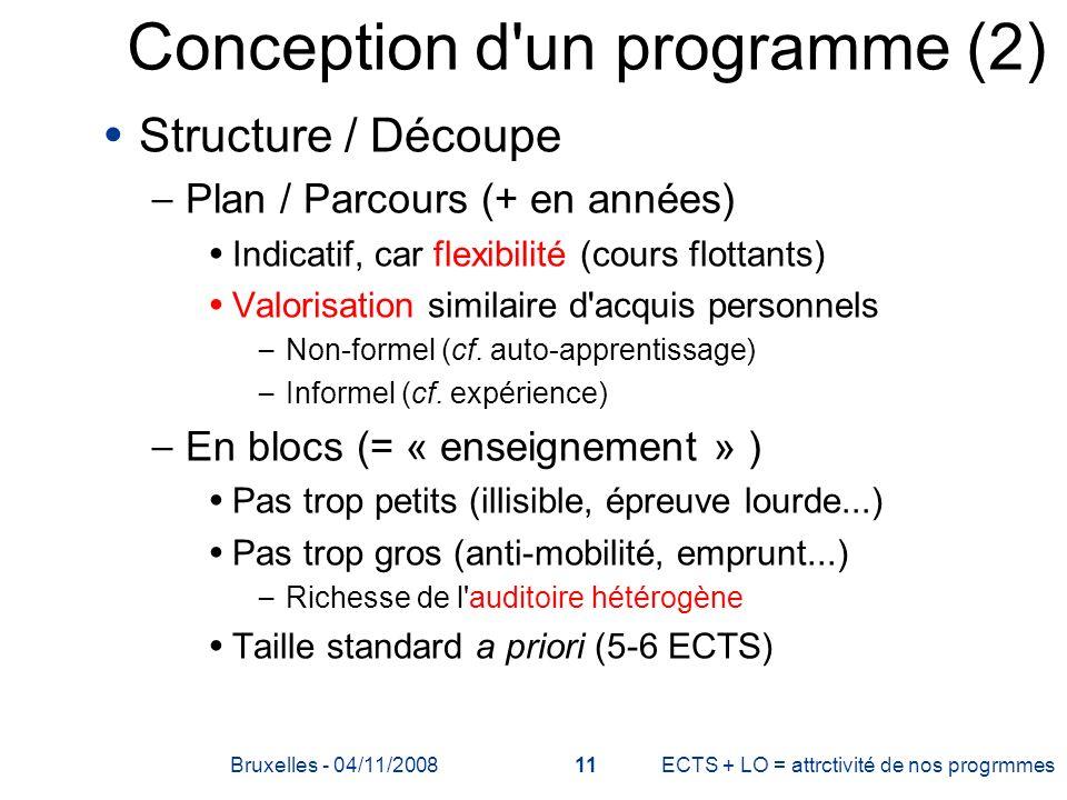 Conception d un programme (2)