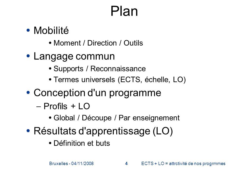 Plan Mobilité Langage commun Conception d un programme