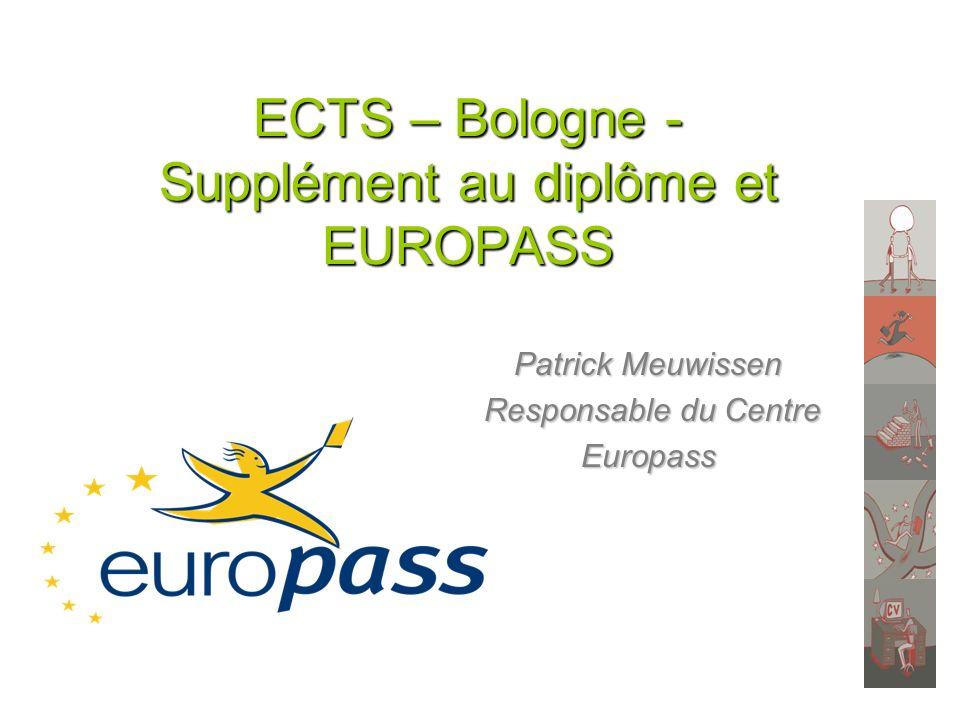 ECTS – Bologne - Supplément au diplôme et EUROPASS