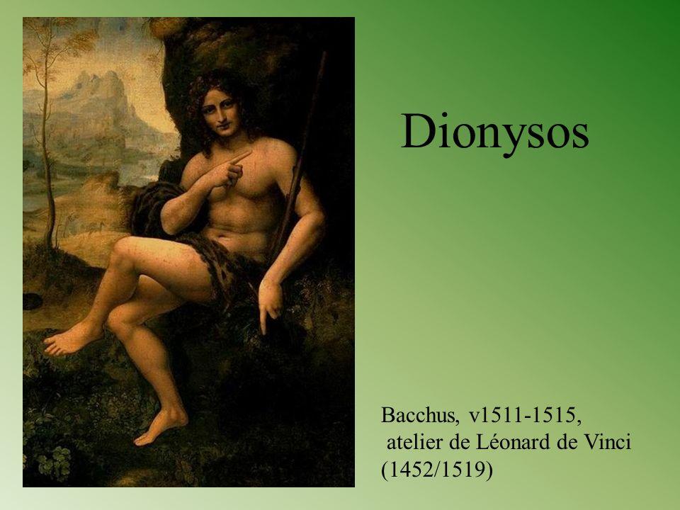 Dionysos Bacchus, v1511-1515, atelier de Léonard de Vinci (1452/1519)