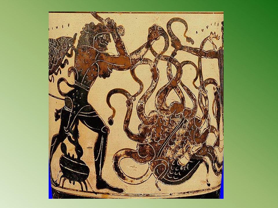 Tuer l hydre de Lerne, dont les têtes tranchées repoussaient sans cesse ;