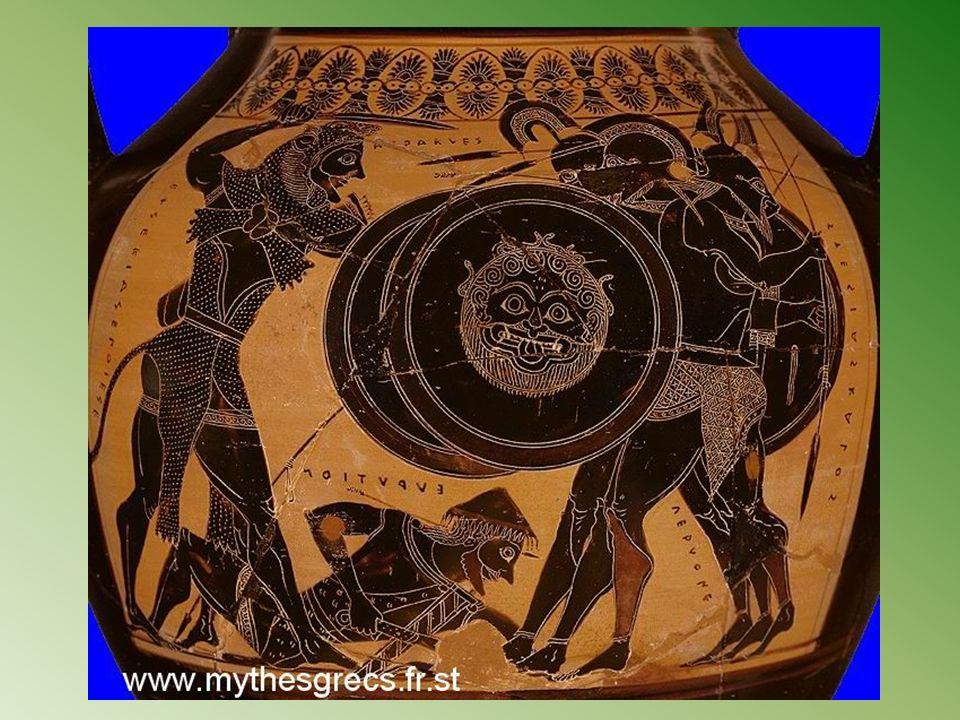 Héraclès à Géryon Combat d Héraclès et Géryon, amphore attique à figures noires, v. 540 av. J.-C., musée du Louvre.