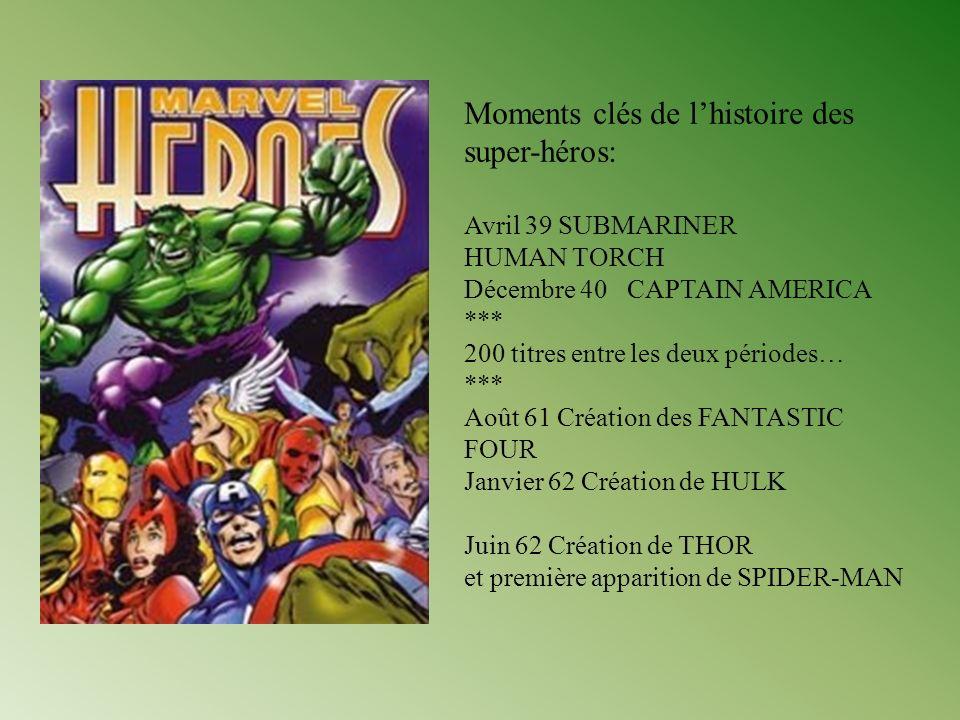 Moments clés de l'histoire des super-héros: