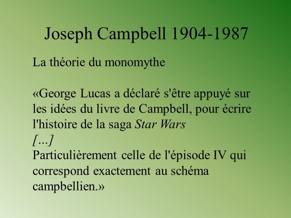 Joseph Campbell 1904-1987 La théorie du monomythe
