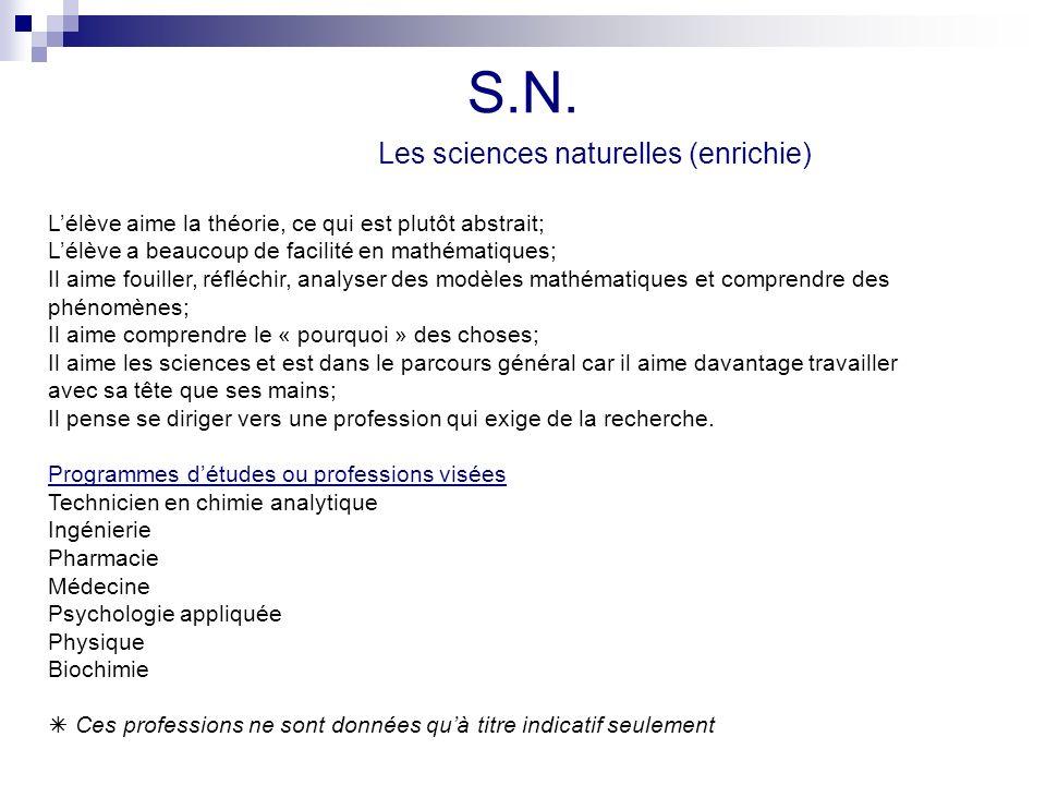 S.N. L'élève aime la théorie, ce qui est plutôt abstrait;